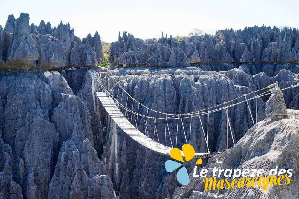 Tsingy de Bemaraha trapeze des mascareignes